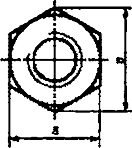 Гайка ГОСТ ISO 4032 шестигранная
