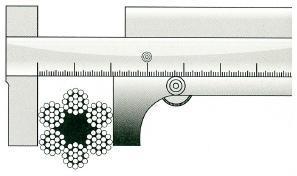 Как измерить толщину каната штангенциркулем